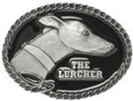 Lurcher Belt Buckle with display stand